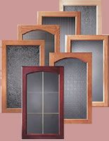 Kitchen Decorative Glass Panels | This upgrade is popular in home offices, wet bars, and home ...