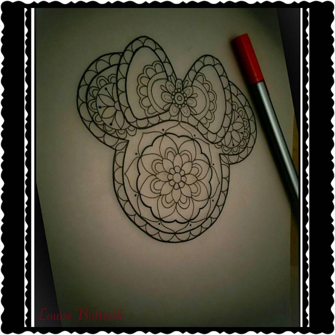 mandala mini mouse tattoo - Google Search | Tats | Pinterest