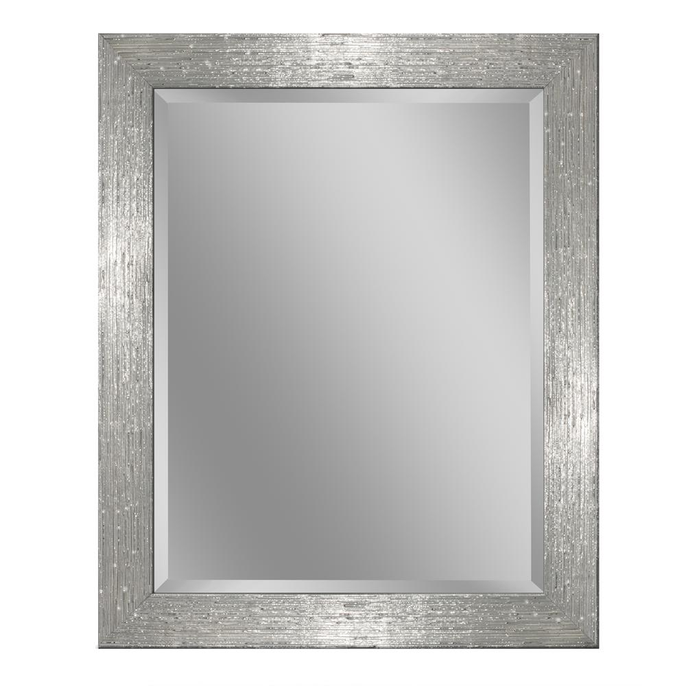 Deco Mirror 36 In W X 46 In H Driftwood Wall Mirror In Chrome And White 8032 Beveled Edge Mirror Vanity Wall Mirror Beveled Mirror