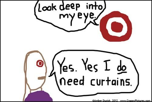Oh Target, how I love you.  And your curtains.