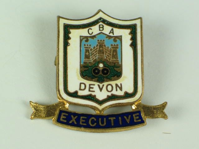 Devon County Bowling Association Executive Enamel Badge (120412-494-35 / 11-11575)