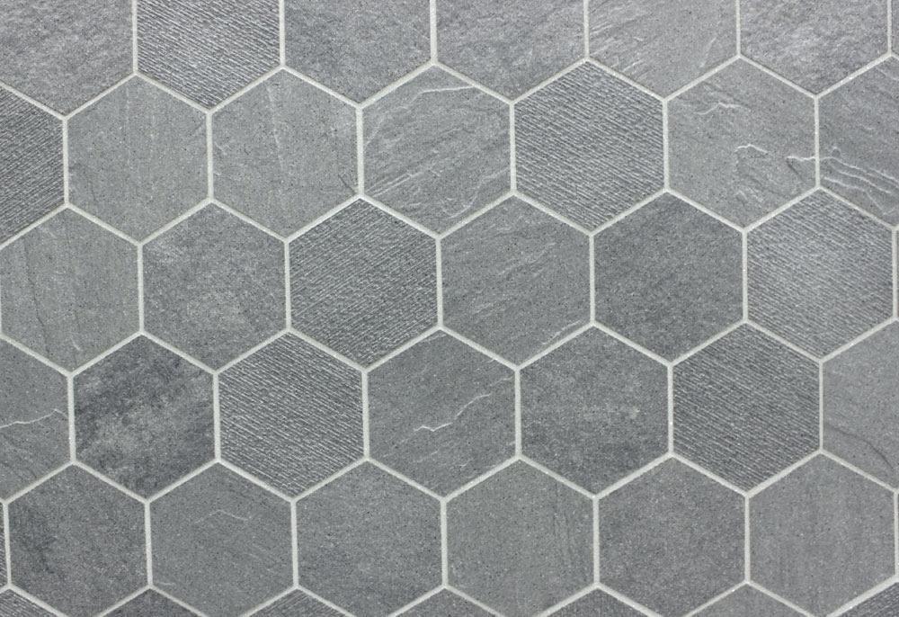 Octagon Floor Tile Interior Design White Hexagon Mosaic Tile Black