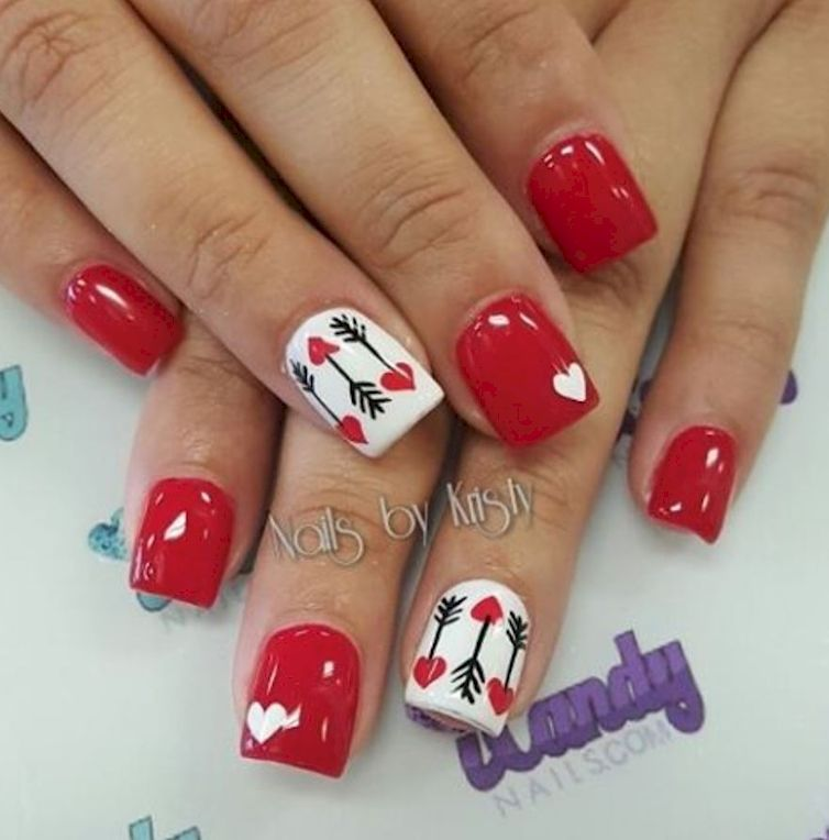 Holiday Nails, Valentine Nail Designs - 16 Ridiculously Cute Nail Designs To Wear This Valentine's Day