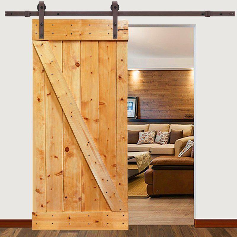 The Barn Style Sliding Door Hardware And Knotty Pine Interior Door