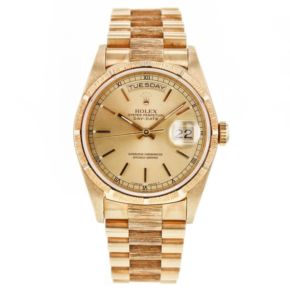 rolex day date president 18248 18k yellow gold automatic