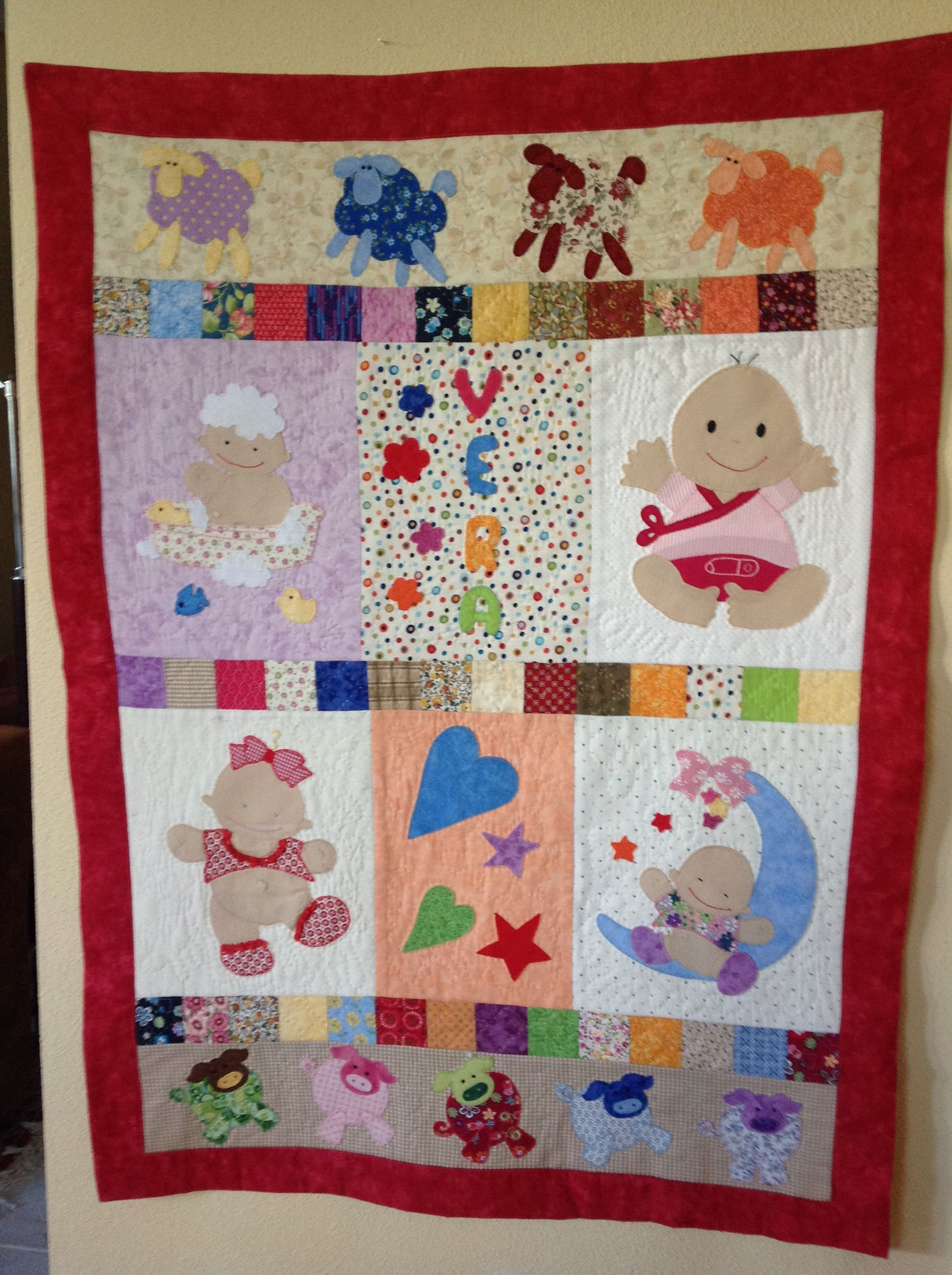 Patchwork Bambini ~ Pastel baby quilt patterns old fashioned pastel patchwork baby