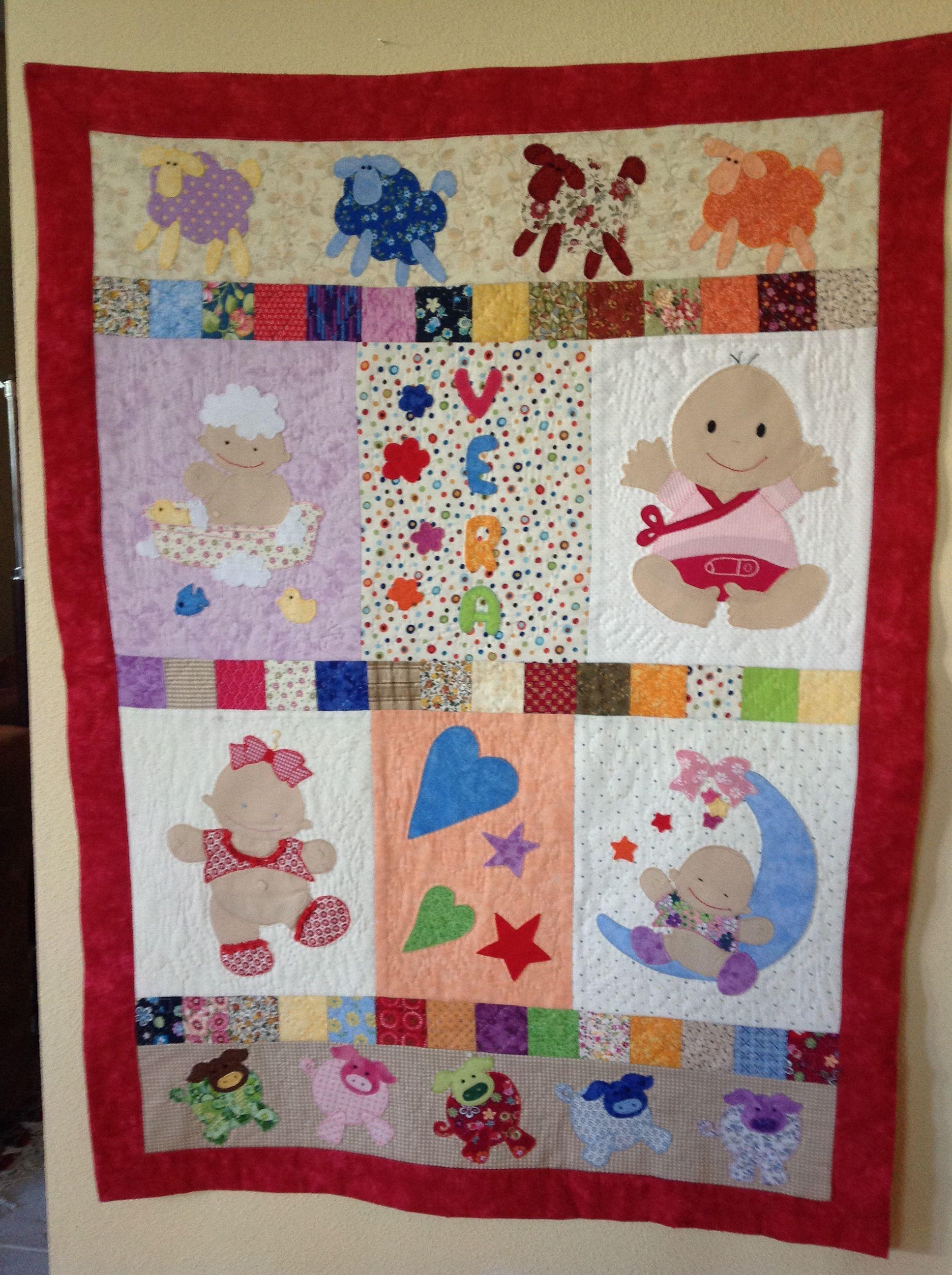 Colcha bebe patchwork bebek battaniyesi pinterest - Colchas patchwork infantiles ...