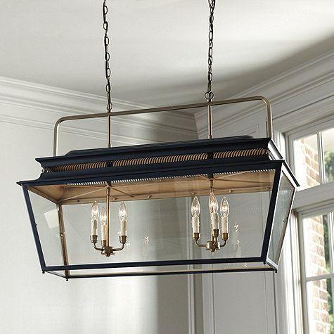 Piedmont 6 Light Rectangular Lantern Rectangular Chandelier