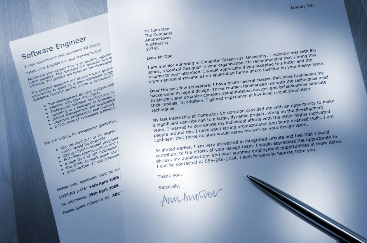 How To Write A Cover Letter That Matches The Job