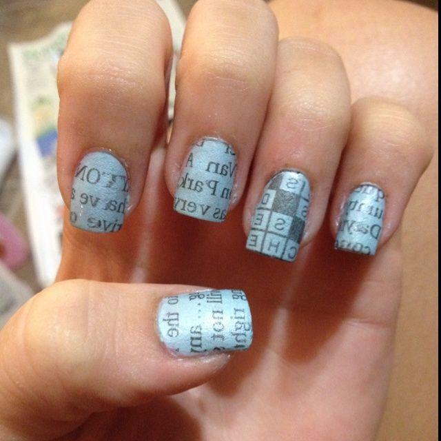 nail art newspaper - Google Search | Hair, Make Up and nails ...
