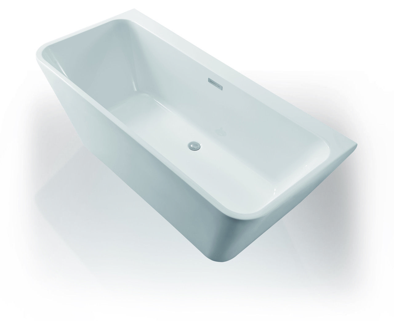 1500mm Delta Back to Wall Freestanding Bath