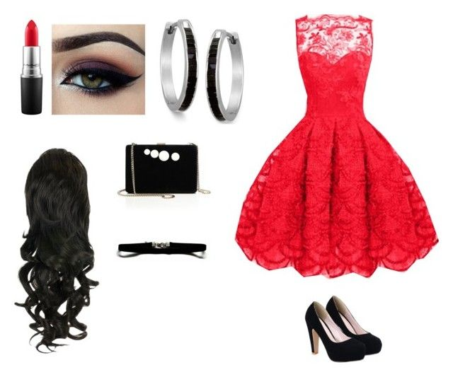 """""""Red Carpet Outfit"""" by savannahs977 ❤ liked on Polyvore featuring MAC Cosmetics, Ardell, STELLA McCARTNEY, women's clothing, women's fashion, women, female, woman, misses and juniors"""