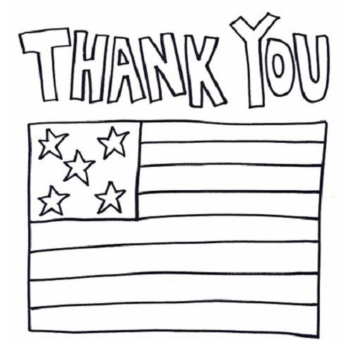 Thank You Military Coloring Pages Veterans Day Coloring Page
