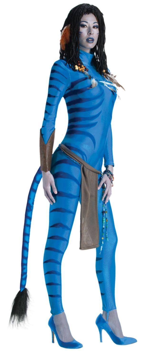 Avatar Kostume Frau Ideen Fasching Sexy Neytiri Schminke