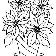 blooming flower in the vase coloring page - Coloring Pages Roses A Vase