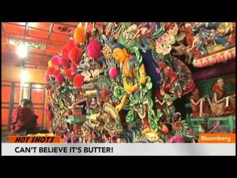 TV BREAKING NEWS Giant Butter Carvings Fill Tibetan Monastery - http://tvnews.me/giant-butter-carvings-fill-tibetan-monastery/