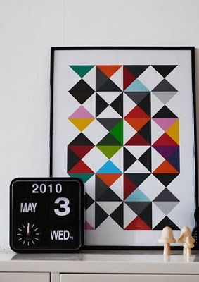 I'm looking for curtains/fabric something like this #triangles #blackand whihte #brightcolors. Anyone?