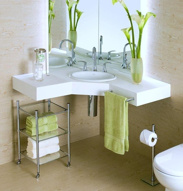 مغاسل بزاوية تناسب دورات المياه الصغيرة رايكم وتعليقاتكم دعم لي للرعاية والاعلان Pia De Canto Pia De Canto Para Banheiro Decoracao Banheiro Pequeno