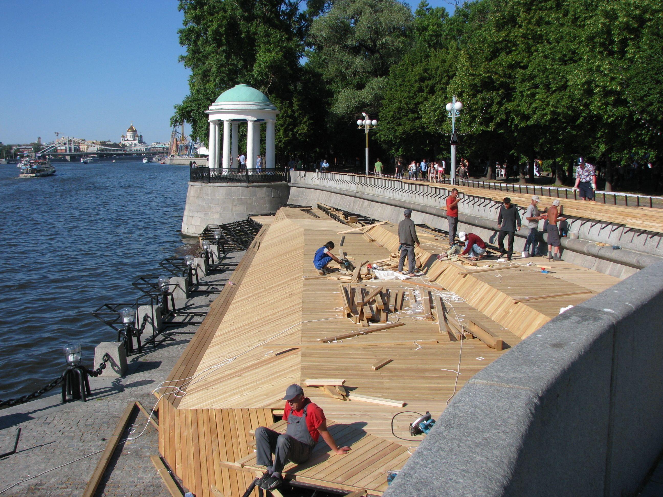 имеет фото парков на набережной реки москвы многих эти