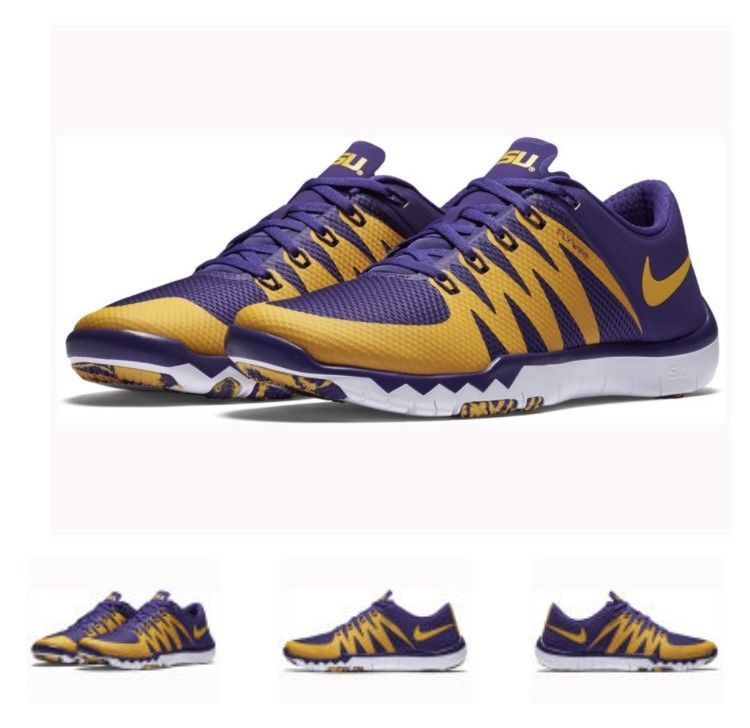 0ad26793d LSU Nike Free Trainer 5.0 V6 Training Shoes Size 8.5 Medium (D) BRAND NEW