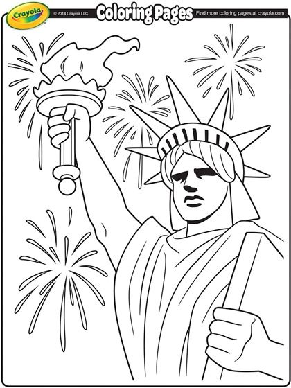 Check out this great #patriotic Lady Liberty #printable from Crayola ...