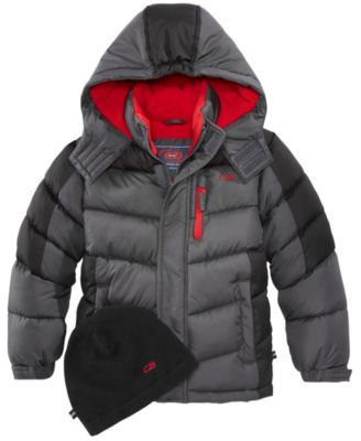 0a40921ba8 Hooded Puffer Coat, Little Boys | Products | Toddler boys, Coat ...