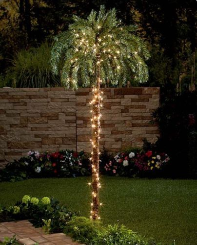 Other Outdoor Lighting 20509 Outdoor 6 + Lighted Palm Tree Garden