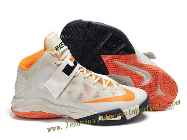 buy online 5530b 169a8 Nike Lebron Zoom Soldier VI Shoes Gray Orange Orange Basketball Shoes,  Basketball Shoes On Sale