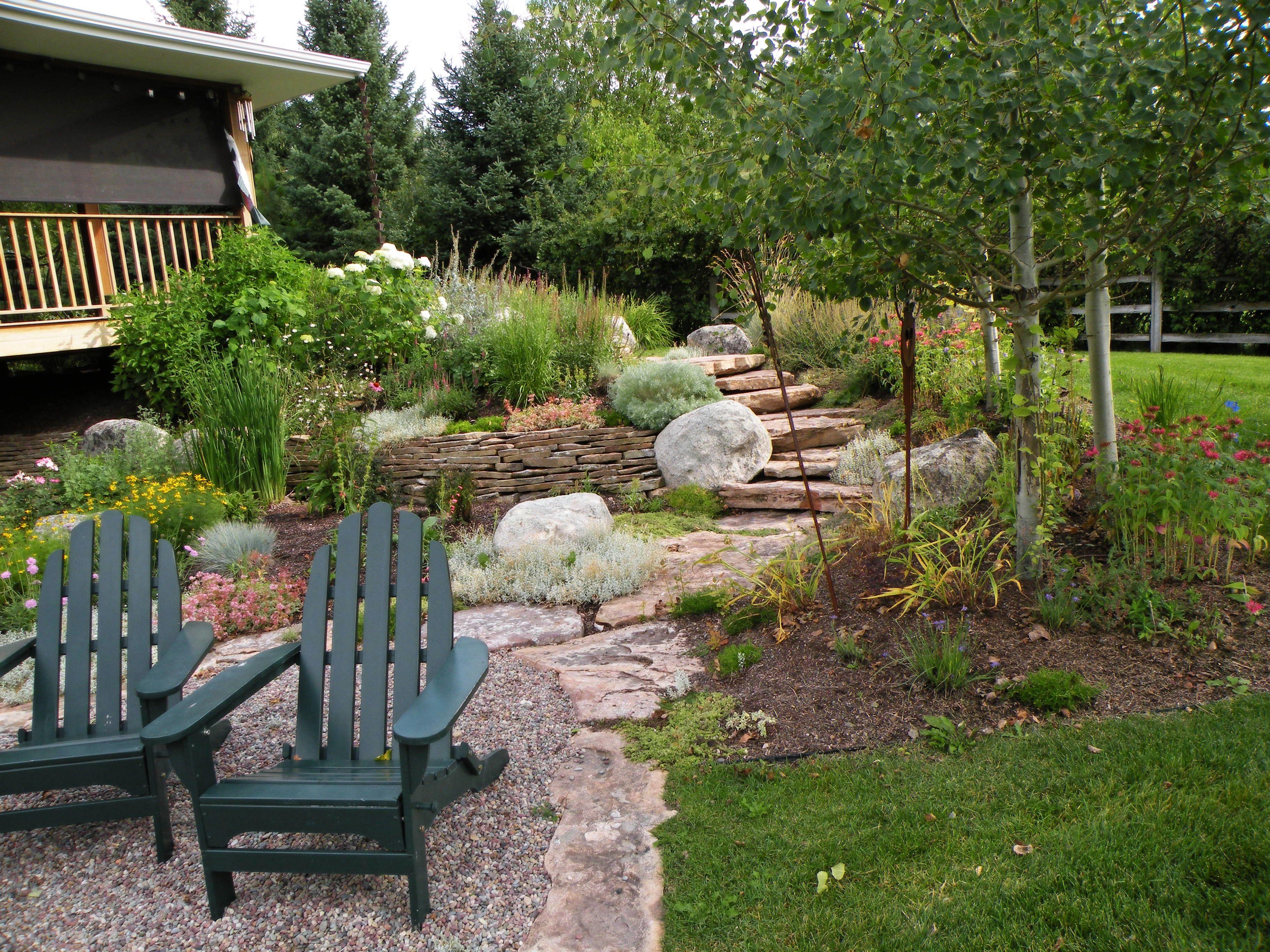 stone pea gravel patio Pea Gravel Backyard