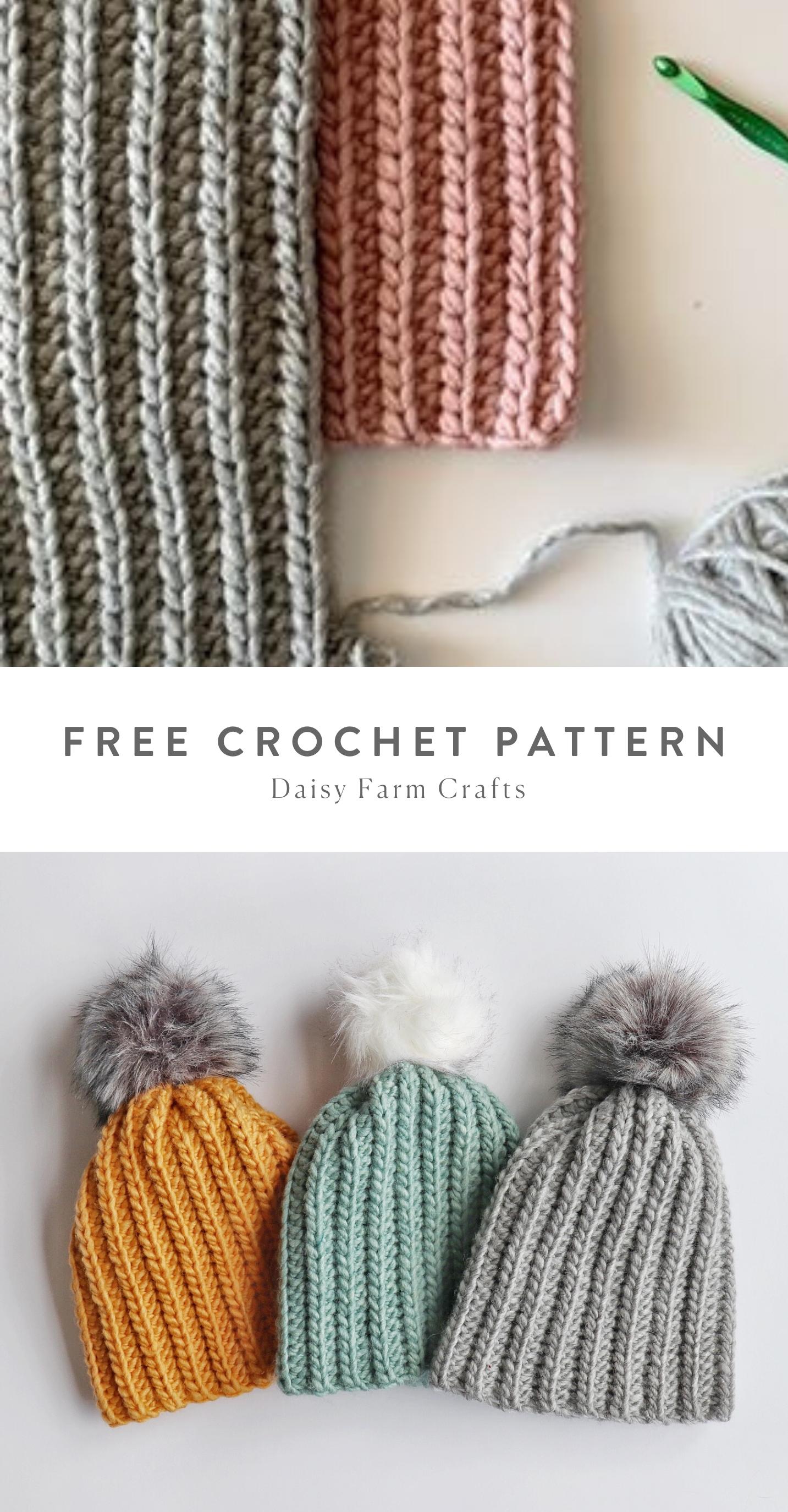Free Pattern - Crochet Beginner Winter Hat