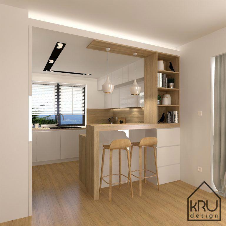 Minimalistkitchen Interior Design:  Zakres Projektu: Kuchnia KRU Design # Minimalistkitchen