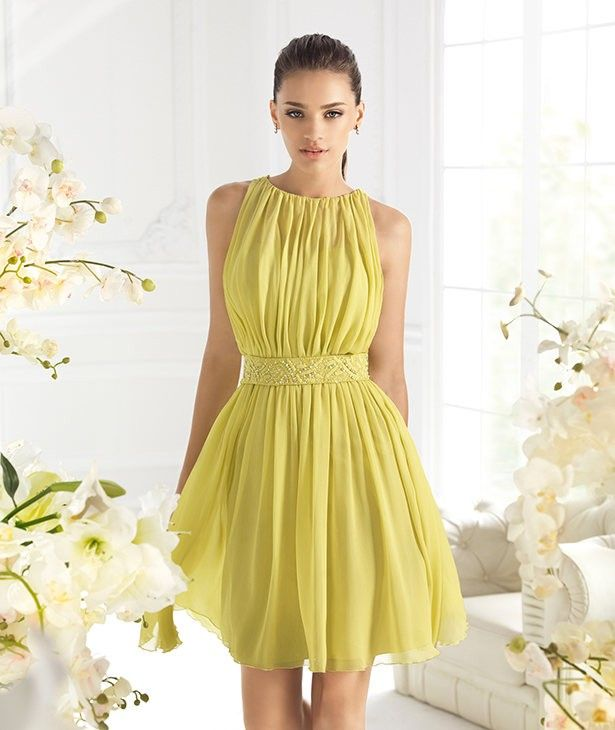 Strapless Floral Lace Yellow Party Dresses – Designers Outfits ...