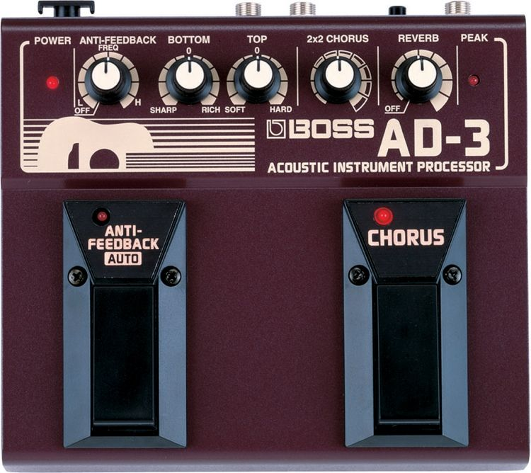 Boss Ad 3 Acoustic Instrument Processor Best Acoustic Effects Pedal Ever Acoustic Instrument Guitar Effects Guitar Pedals