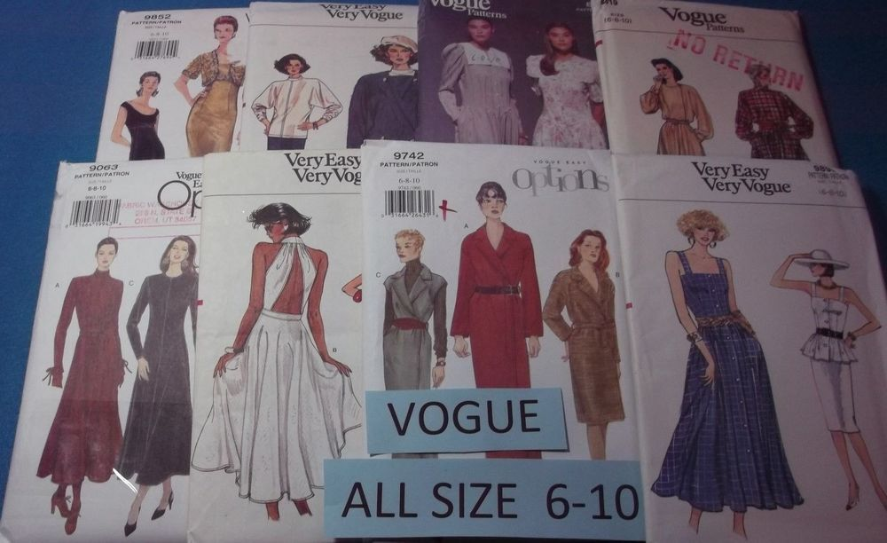 A Vogue ~ All Patterns are Sizes 6-10 (6,8,10) U-PICK ~ 23+ Listed ~ 9839 ~ NIP Each 9.99+fr