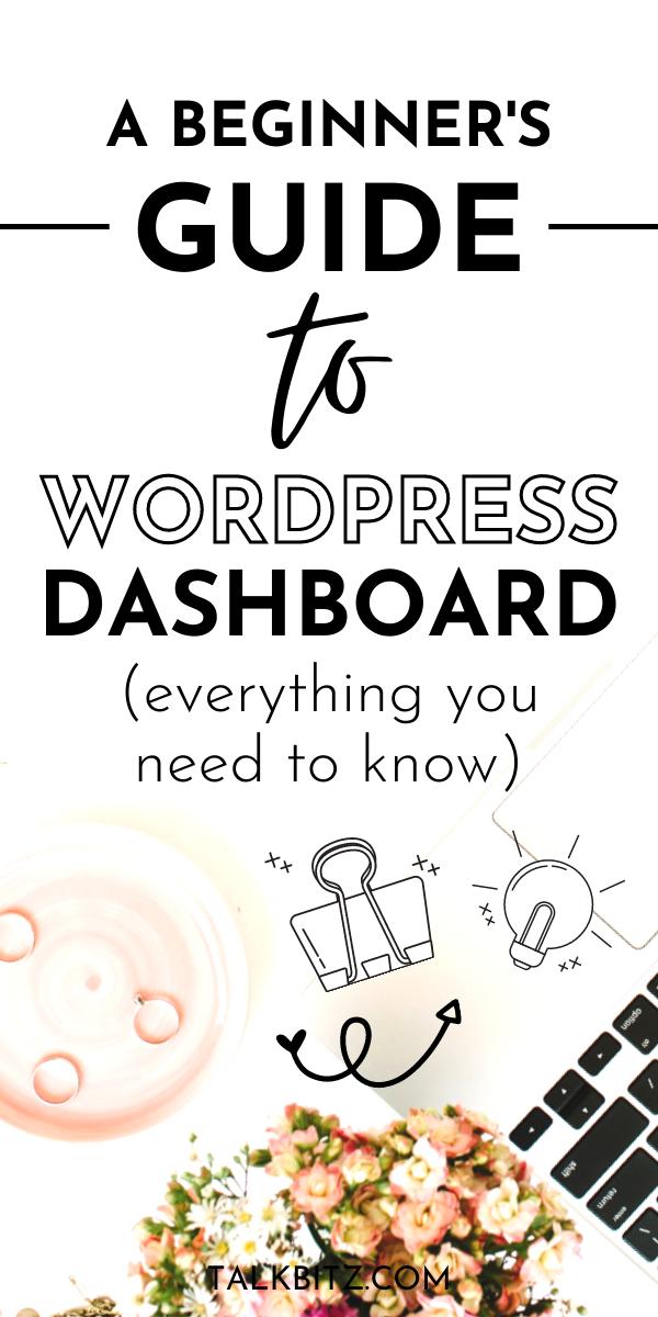 WordPress for Beginners: How to Use WordPress Dash