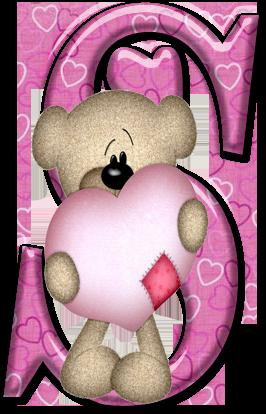Oh My Alfabetos Alfabeto Con Osito De Trapo Con Corazon Caligrafia Creativa Alfabeto Tatty Teddy