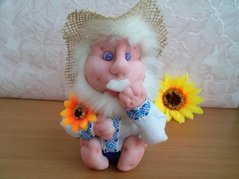 Handmade Fabric Doll Grandpa Doll Cloth Dolls Soft ...