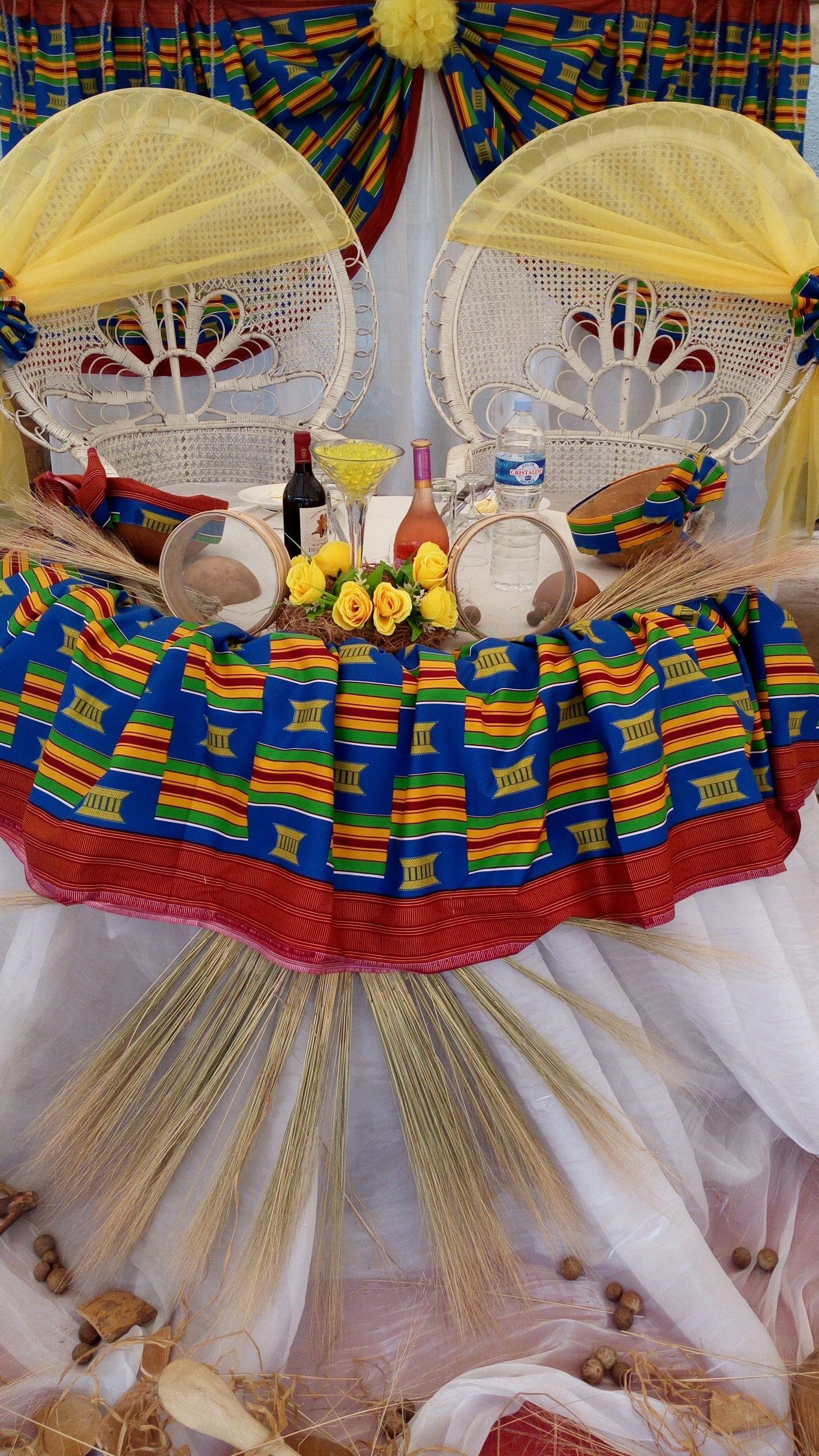 Decoration Mariage Traditionnel Touti Creation By Toussaintkouame