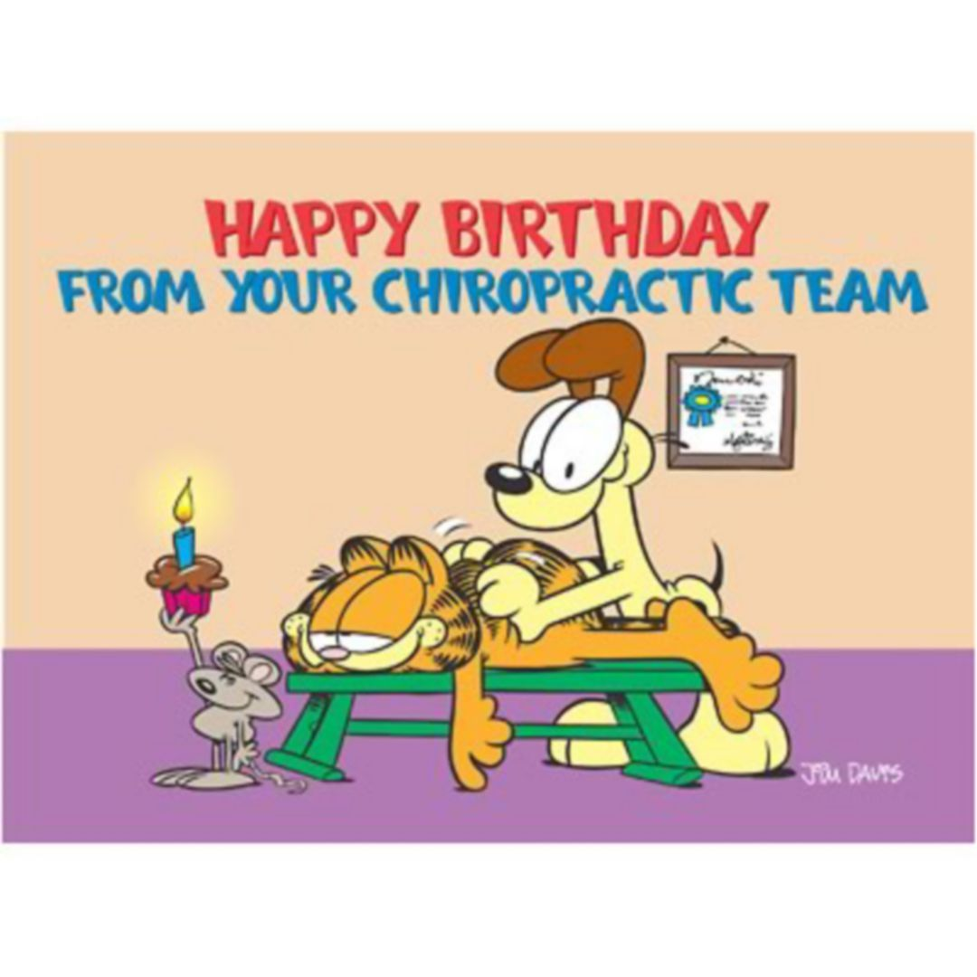 Garfield Standard 4x6 Postcards From Your Chiropractic Team