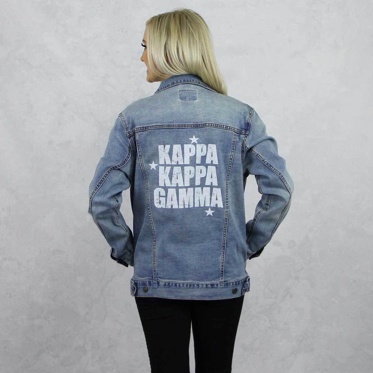 Kappa Kappa Gamma Jean Jacket By Sororityspecialties On Etsy Https Www Etsy Com Listing 711686396 Kappa Kap Diy Denim Jacket Long Sweatshirt Sorority Outfits [ 1200 x 1200 Pixel ]