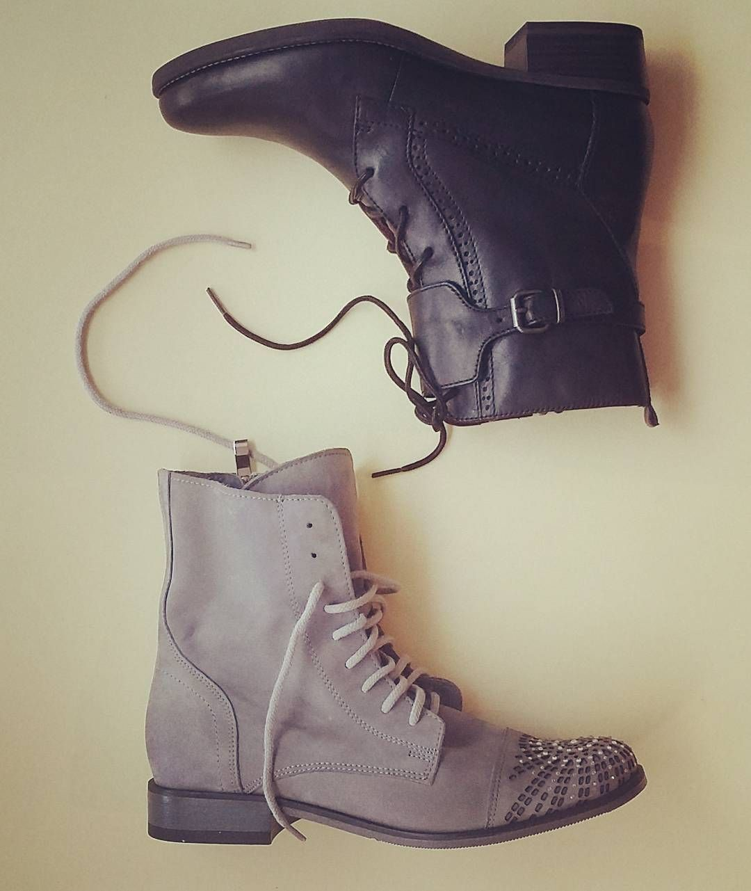 Trzewiki Tamaris Newcollection Autum2016 2017 Exquisite Leather Greyshoes Blackshoes Www Alebuty Com Pl Goodlookin Grey Shoes Combat Boots Black Shoes