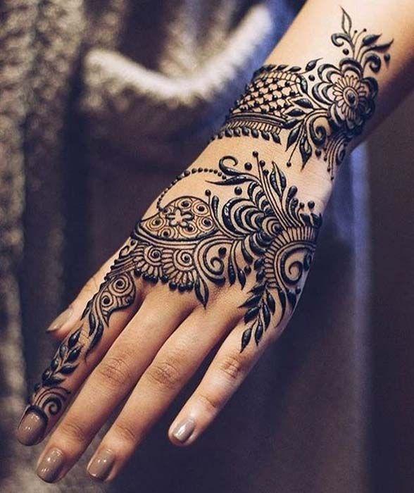 Back Hand Henna Design 2018 Mehndhi Henna Henna Designs Mehndi