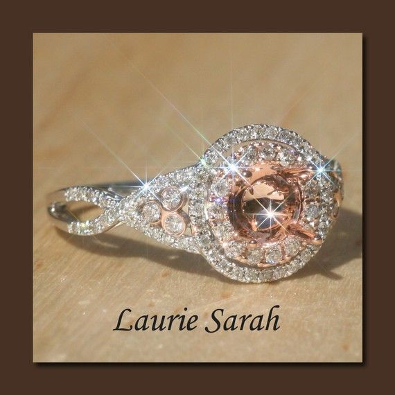 20 Off  Was 116250  Rose and White Gold by LaurieSarahDesigns, $930.00