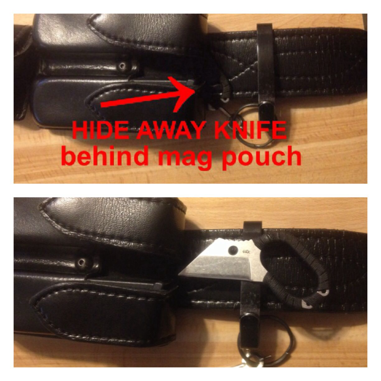 My Hide Away Knife Behind Front Mag Pouch On Duty Belt Mag Pouch Pouch Police Life