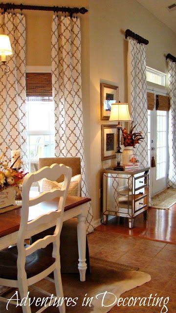 Adventures in Decorating - love the flow of breakfast nook into