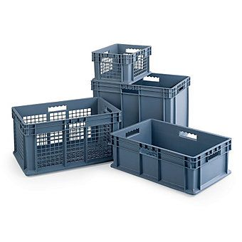 Akro Mils Straight Wall Container 24x16x16 Mesh Sides And Base 28 10 Ea Sold In 2 S Storage Bins Container Wall