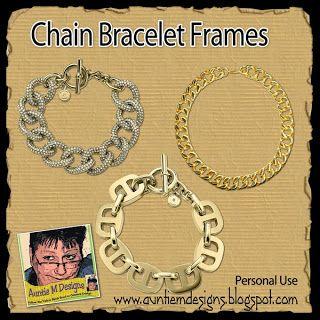 Auntie M Designs: Charm Bracelets and Chain Bracelet Frames