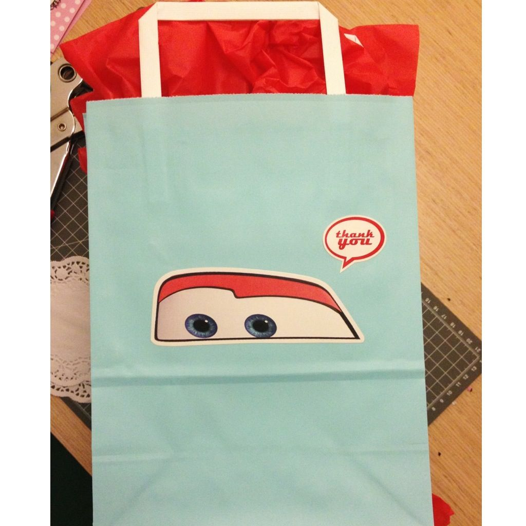 Pixar Cars Party Goodie Bag Designed By Me