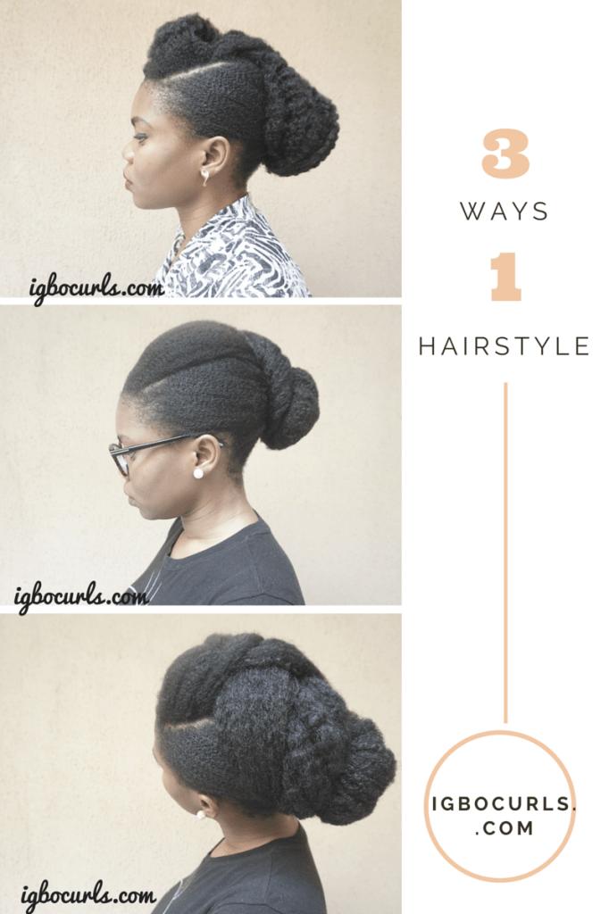 Creative Versatile Updo On Natural Hair Hi Lovelies Last Week I
