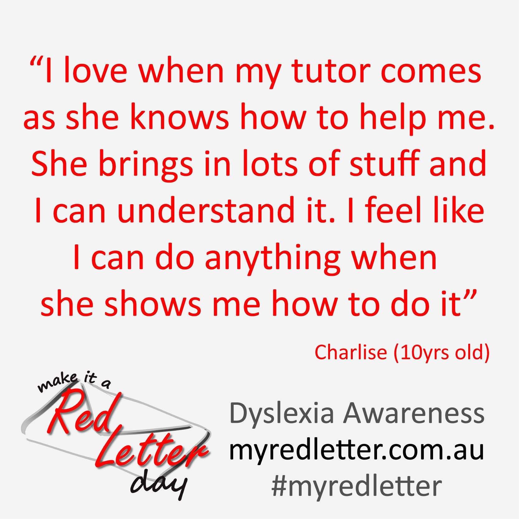 Dyslexia Awareness Campaign Upcoming >> Quote Make It A Red Letter Campaign Competition Dyslexia